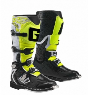 Motokrosové boty Gaerne G-REACT GOODYEAR WHITE BLACK YELLOW
