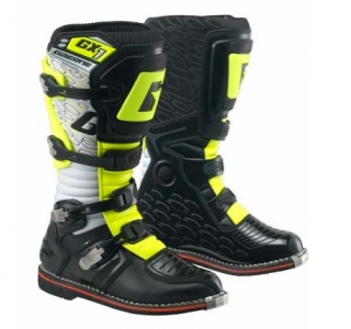 Motokrosové boty Gaerne GX1 GOODYEAR WHITE BLACK YELLOW