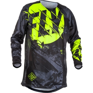 Dres FLY RACING Kinetic OUTLAW USA 2018 - (černá/HI-VIS)