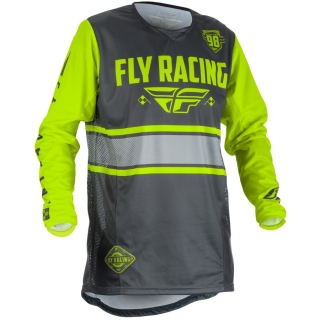 Dres FLY RACING Kinetic ERA USA 2018 - (šedá/HI-VIS)