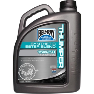 Olej BEL-RAY THUMPER RACING SYNTHETIC ESTER BLEND 4-STROKE ENGINE OIL 15W-50 4 L