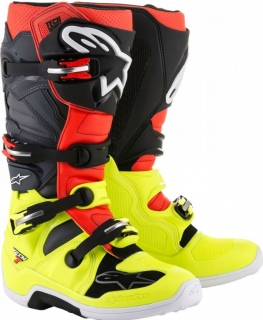 Motokrosové boty ALPINESTARS TECH 7  yellow flo/red flo/grey/black