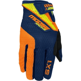 A Motokrosové rukavice MOOSE RACING SX1 ORANGE/NAVY VIZ vel. XL