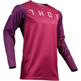 Motokrosový dres THOR PRIME PRO INFECTION MAROON/RED ORANGE