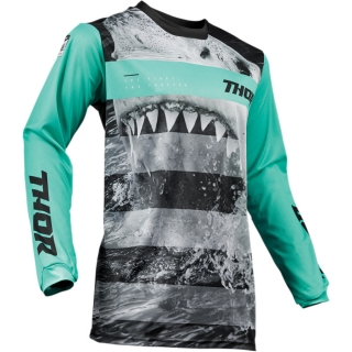 Motokrosový dres THOR PULSE SAVAGE JAWS MINT/BLACK