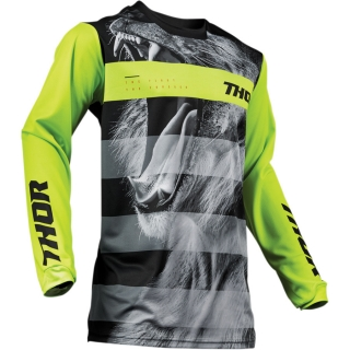Motokrosový dres THOR PULSE SAVAGE BIG KAT BLACK/LIME