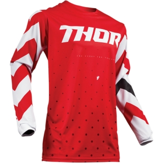 Motokrosový dres THOR PULSE STUNNER RED/WHITE