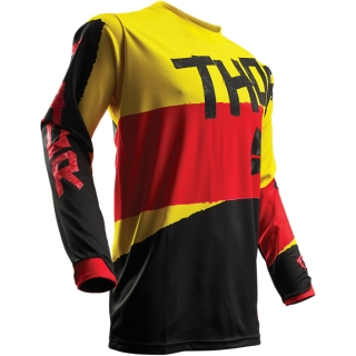 a Motokrosový dres THOR PULSE TAPER YELLOW/RED vel. S