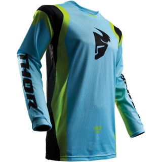 A Motokrosový dres THOR PULSE AIR LIGHT BLUE/LIME vel. M