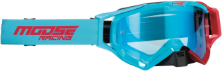 Motokrosové brýle MOOSE RACING XCR BLUE/RED