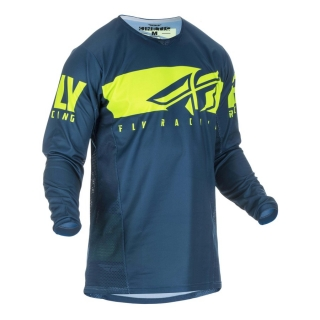 Motokrosový dres FLY RACING KINETIC SHIELD MODRÁ/ŽLUTÁ FLUO