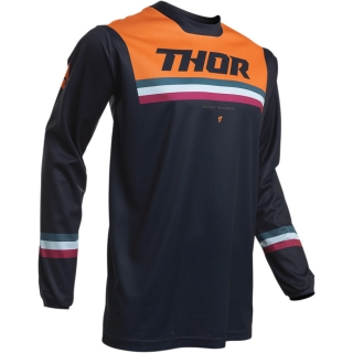 Dětský motokrosový dres THOR PULSE AIR PINNER MIDNIGHT/ORANGE