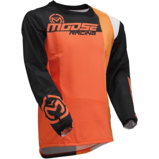 Ventilační motokrosový dres MOOSE RACING SAHARA BLACK/ORANGE