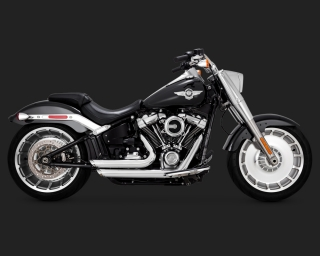 Výfuk VANCE & HINES SHORTHOTS STAGGERED pro HARLEY DAVIDSON FAT BOY FLFB 2018-2020 chrom