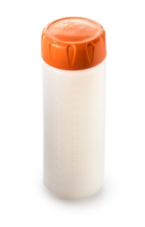 a Odměrka na kapaliny KTM OIL BOTTLE 250ML ORANGE